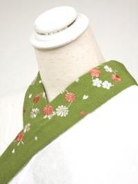 緑系・刺繍衿