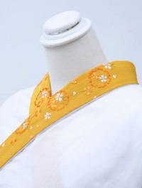 からし色系・刺繍襟